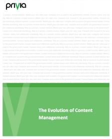 Evolution of Content Management image