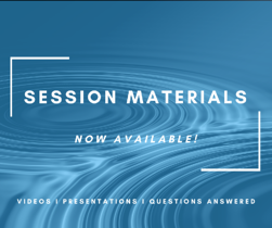 Session Materials now available!